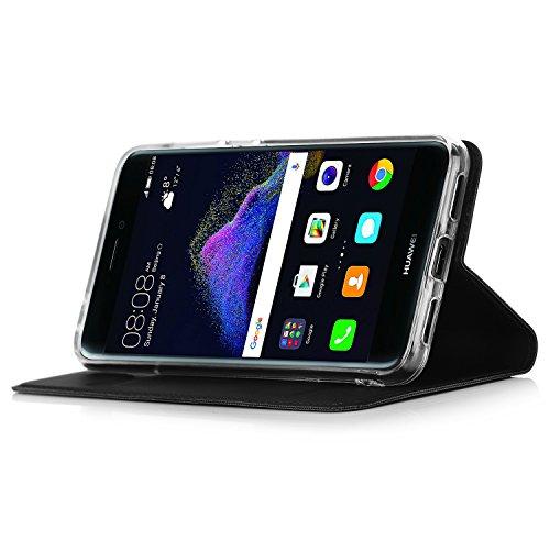 Huawei P8 Lite 2017 Cover - IVSO Slim Flip Cover Custodia per Huawei P8 Lite 2017 Smartphone (Flip Series -...