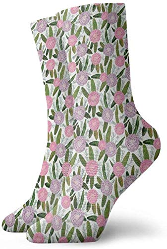 flys Christmas socks High Ankle Casual Socks,Gardening Themed Pattern With Little Tender Primrose Primula Blossoms