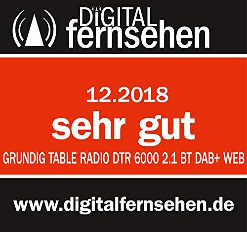 """Grundig DTR 6000 2.1 BT DAB+ WEB """"All-in-one""""-Internetradio mit Bluetooth, Multiroom und Empfang Schwarz"""