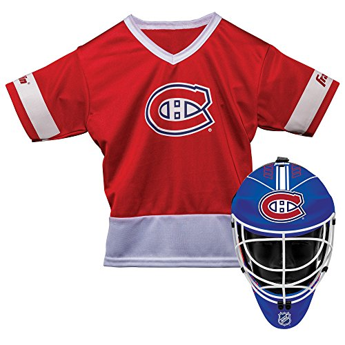 Franklin Sports Montreal Canadiens Kid's Hockey Costume Set – Youth Jersey & Goalie Mask – Halloween Fan Outfit – NHL…