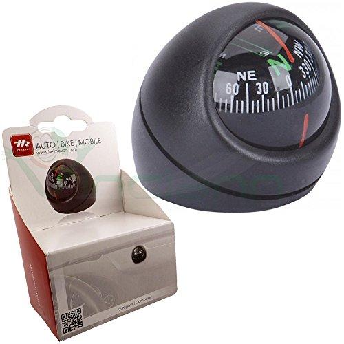 hr-imotion Kugel Kompass mit Gradanzeige [Selbstklebend , montierbar auch um 180 Grad gedreht] - 10310601