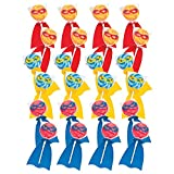Fun Express Superhero Swirl Candy Lollipops | Assorted Fruit Flavors | 24 Count | Great for Birthday Parties, Holiday Giveaways, Party Favors, School Treats