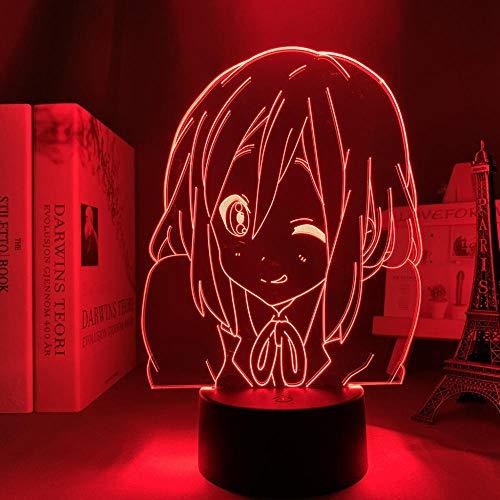 Lámpara de noche 3D lámpara de ilusión de anime Lámpara 3D anime k en yui hirasawa para dormitorio decorativo noche luz niño regalo de cumpleaños dormitorio decoración manga k en luz led ZMSY