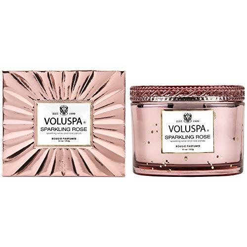 Voluspa Sparkling Rose Corta Maison Boxed Glass Candle, 11 Ounces