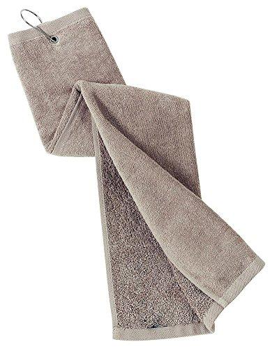 Port Authority Grommeted Tri-Fold Golf Towel, Khaki, OSFA