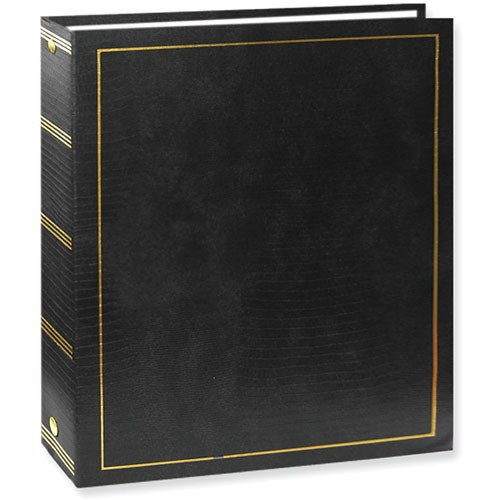 Photo Albums Magnetic 3-Ring with 100 Pages, 8.25' x 10.5', Black Color