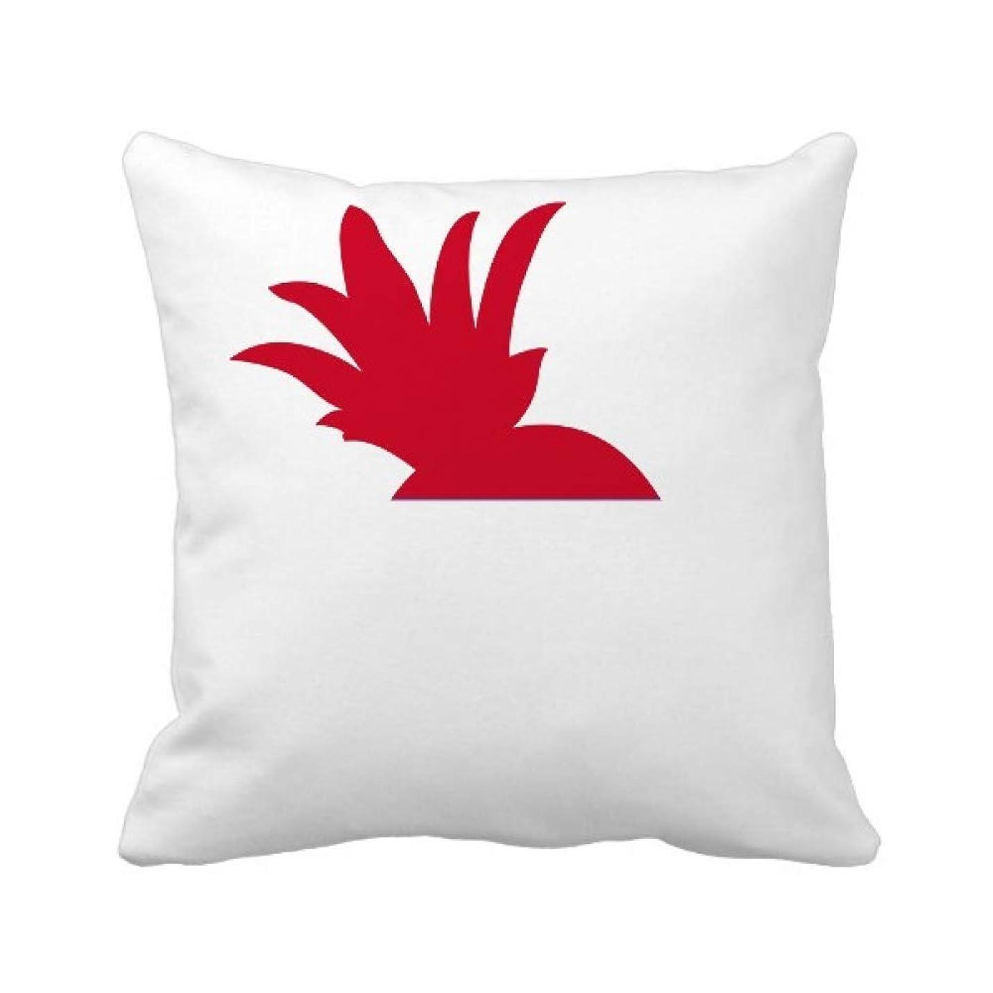 ワイヤーエスニックチロインドネシアアジアの国の国旗 パイナップル枕カバー正方形を投げる 50cm x 50cm