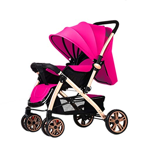 Purchase Baby carriage PeaceipUS Baby Stroller Lightweight Folding 0/1-3 Years Old Simple Portable Child Trolley (Color : Pink)
