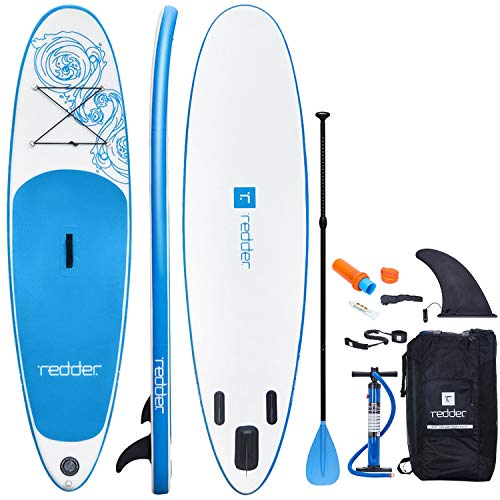 Inflatable Stand Up Paddle Board Vortex 8'8' x 31' x 4.75' All Round ISUP With Bravo SUP3 Dual Action Hand Pump, 3 Piece Alloy Paddle, 10' Leash, Backpack, Non-Slip Deck And Repair Kit - REDDER