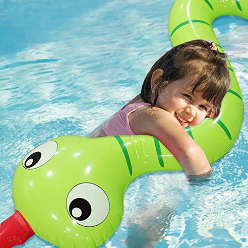 WZXHN 170cm Bambini Anello da Nuoto con Serpente Gonfiabile Serpente a Bordo Piscina Serpente Galleggiante Tagliatelle Galleggianti Acqua Festa per Feste Giocattoli Piscina
