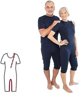 Pflegeoverall für Frauen und Männer slim kurz mit Bein- und Rückenreißverschluss Demenz Overall ActivePro M