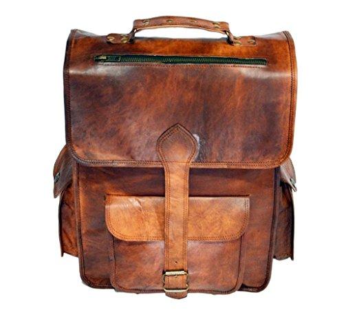 Messenger of Leather, Sac à dos marron marron 16\