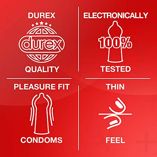 Durex Condoms Thin Feel, Pack of 20