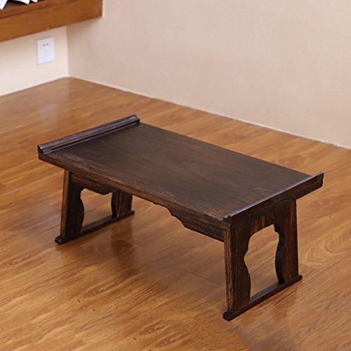 ZSHzdz eindtafels kleine salontafel opklapbare slaapzaal bedtafel Japanse luie massief hout computer bureau 80 * 44 * 36cm