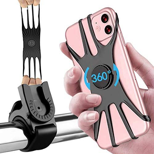 "LOCN Soporte Movil Bicicleta,Soporte Motocicleta-Universal Rotación 360° Soporte Manillar Motocicleta,Soporte Movil Moto Bici para iPhone 12/12 Pro/12 Mini/11 Pro MAX, Samsung y Otro 4.5-7.0"" Móvil"