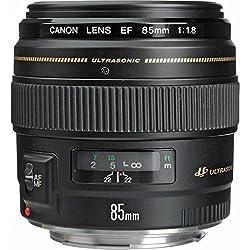 Canon 2519A012 Porträtobjektiv EF 85mm F1.8 USM für EOS (Festbrennweite, 58mm Filtergewinde, Autofokus), schwarz
