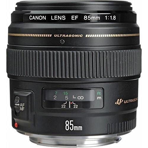 Canon Porträtobjektiv EF 85mm F1.8 USM für EOS (Festbrennweite, 58mm Filtergewinde, Autofokus) schwarz