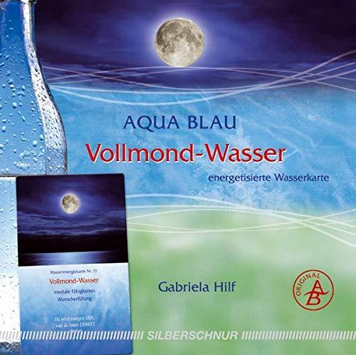 Vollmond-Wasser: Wasser-Energiekarte, manifestiert/Wunscherfüllung, silber: Energetisierte Wasserkarte