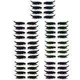 4 Paar wiederverwendbare Eyeliner- und Wimpernaufkleber, 7-farbige wasserdichte Eyeliner-Wimpernaufkleber, einfach zu verwenden und zu entfernen für Frauen Mädchen