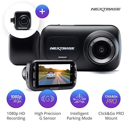 New Nextbase 222x Front and Rear Dash Cam Car Recording Camera…