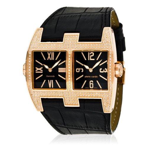 Pierre Cardin PC100081D02 - Reloj analógico de Cuarzo para Mujer con Correa de Piel, Color Negro