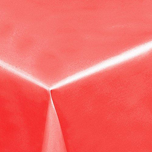 Lackfolie Rot · Eckig 140x180 cm · Breite 140 cm - Länge wählbar· - abwaschbare Party Tischdecke Wachstuch