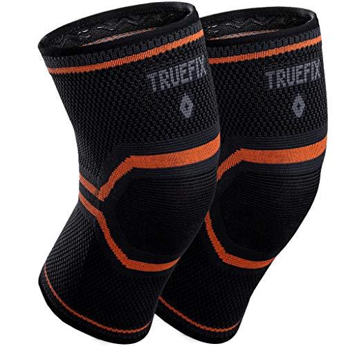 """Truefix Kniebandage für Behandlung bei Verletzungen und Meniskusriss, für Laufen, Squats, Crossfit, Sport, Arthritis, ideal für Frauen und Männer, Extra Large 46-52 cm 18.1-20.4\"""""""