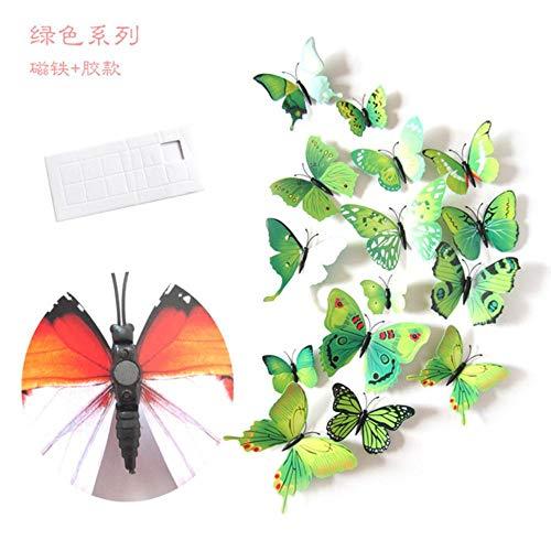 DIF 12 stuks 3D PVC vlinder muurstickers schattige vlinders muurstickers muurstickers kunst decal huisdecoratie