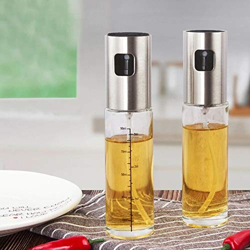 Zhiyangmaoyiオイルスプレー料理用100mlオリーブオイルスプレ該当する油/醤油/調味料/アルコール2個セット