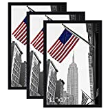 IGxx 11x17 Frame Black Poster Frame Without Mat Made of Solid Wood Wall Mounting Home Deco...