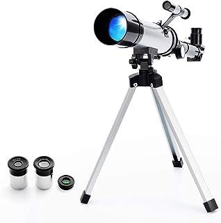 Telescopio Refractor Astronómico Zoom HD para Observación Al Aire Libre Monocular Espacio Telescopio con Trípode para niño...