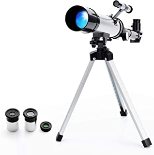 Telescope Star Finder with Tripod F36050 HD Zoom Monocular Space Astronomical Spotting Scope for Kids and Beginner