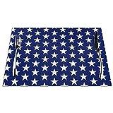 Set di 6 Tovagliette Perfect Star Bandiera Americana Lavabile Antiscivolo Resistente al Calore per la Cucina e la tavola 45x30cm