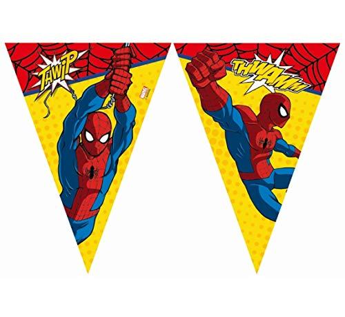 Partyklar Spider-Man Power Guirlande de fanions 2,3 m