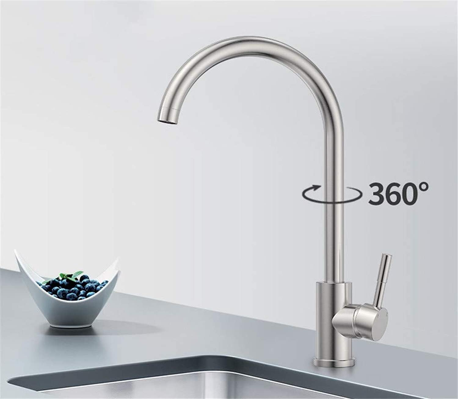 Home Kitchen Faucet hot and Cold redary Sink universally 304 Stainless Steel Sink Splash Faucet,A