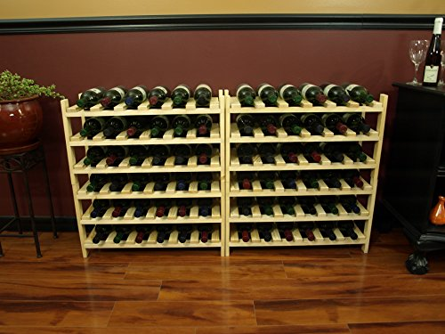 Wine Racks America Pine 72 Bottle Stackable. Unstained