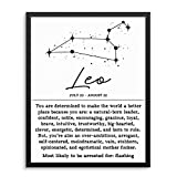 Sincerely, Not Funny Adult Humor Horoscope Zodiac Constellation Wall Decor Art Print - 8' x 10' UNFRAMED - Living Room, Bedroom, Home Business Office - Sarcastic Motivational Wall Poster Sign (Leo)