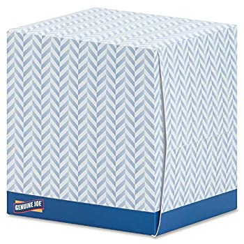 Genuine Joe GJO26085 Cube Box Facial Tissue 2-Ply 85 per Box White  Pack of 36