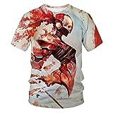 WBYFDC Camiseta Estampada En 3D con Estampado De Calavera Camiseta Holgada De Manga Corta para Hombre con Cuello Redondo Y Cuello Redondo De Gran Tamaño para La Calle