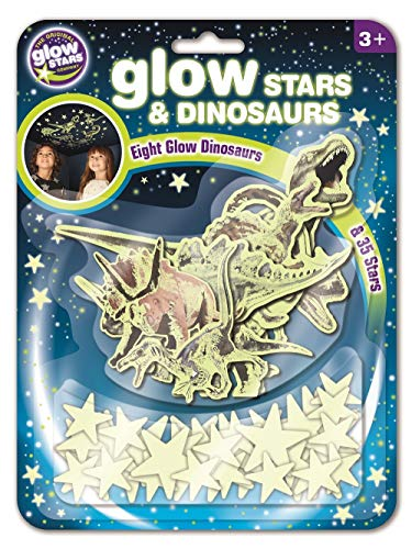 Brainstorm Autocolante Glow 3d Estrelas e Dinossauros