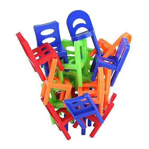 Juego de escritorio de 18 piezas, silla de juguete, mini juguetes inteligentes de aprendizaje, juguete de equilibrio, torre apilable, para niños para niños