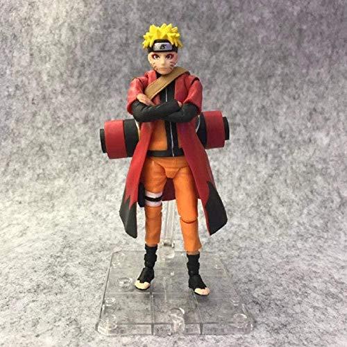 FJKYF modèle d'anime Statuenaruto Shippuden Uzumaki Naruto Figurines d'action Super articulations Mobiles Changement de Visage Figurine d'anime PVC Statue Jouets à Collectionner 14 Cm