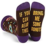 Lavley - If You Can Read This Bring Me Novelty Socks - Funny Dress Socks For Men and Women (Donuts)