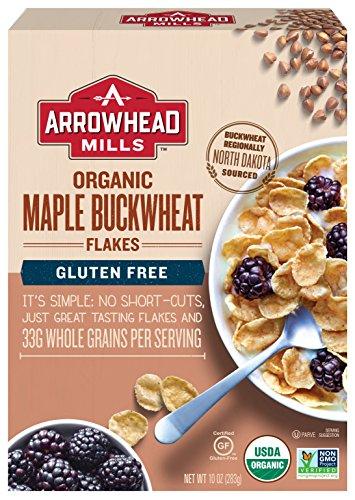 Arrowhead Mills Organic GlutenFree Cereal Maple Buckwheat Flakes 10 oz Box Pack of 6