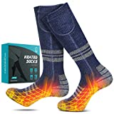 JBTOR Heated Socks, Rechargeable Electric Battery Socks with 4400mAh (2200mAhx2) Large Capacity Thermal Insulated Socks...