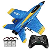 YRMJK RC Plane,2.4GHz 2CH DIY EPP Outdoor RTF Ready to Fly Remote Control Gliding Aircraft Model with 2 Extra Batteries-(3 Batteries)