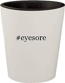 #eyesore - White Outer & Black Inner Hashtag Ceramic 1.5oz Shot Glass