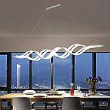 Lampada a Sospensione tavolo da pranzo LED Lampada da Soffitto Moderno 100W dimmerabile con telecomando lampadario regolabile in altezza illuminazione ristorante camera da letto Ufficio Cucina