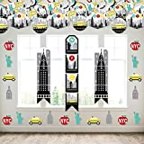 Big Dot of Happiness NYC Cityscape - Wall and Door Hanging Decor - New York City Party Room Decoration Kit