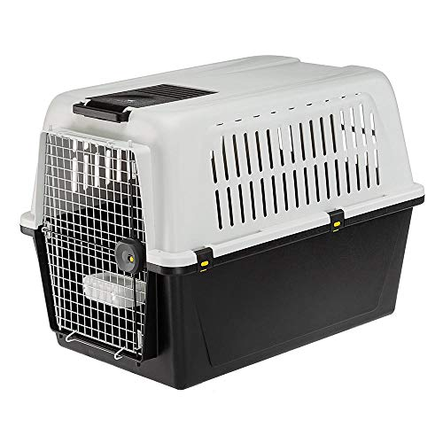 Ferplast 73060021 Transportbox ATLAS 60 PROFESSIONAL, für Hunde, Maße: 91 x 61 x 66,5 cm, grau